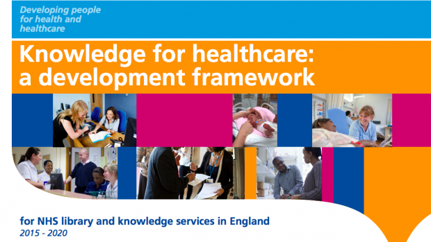 Screenshot of front cover of Knowledge for healthcare