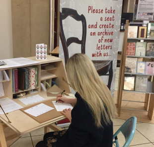 The Bolton Chair - travelling letter exchange in action. Photo credit: Time to Read