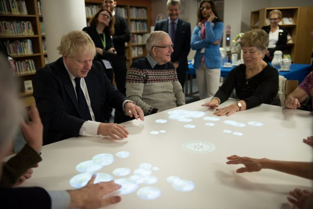 Boris Johnson MP and guests at the launch of Tovertafel in Uxbridge library. Photo credit: Hillingdon Council