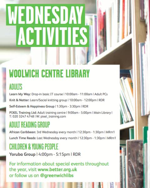 Wednesday activities poster
