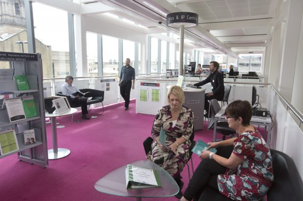 Visitors in the BIPC, Newcastle library. Photo credit: Newcastle library