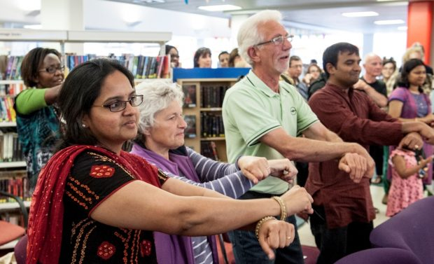 Ipswich county library multicultural day - standing together.