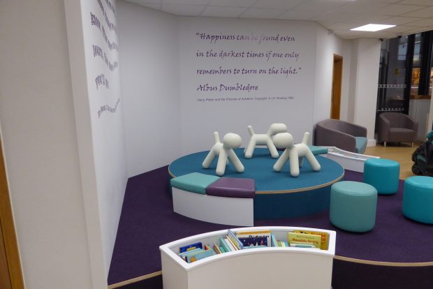 Story corner in Chelmsford library. Photo credit: Sarah Mears/Essex libraries
