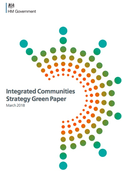 Screenshot of the front of the Integrated Communities Strategy Green paper.