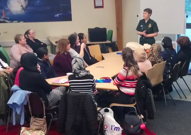 CPR class delivered by Emma from the ambulance service. Photo credit: Mowbray Gardens library