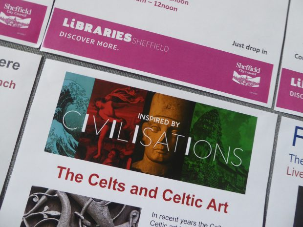 Photo of Civilisations poster on the Celts and Celtic Art