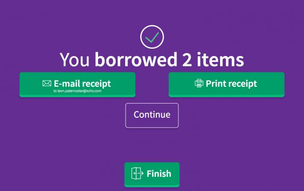 Screenshot showing that someone has borrowed 2 items.