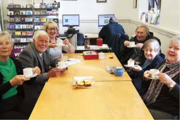 A group meeting in King's Lynn library. Photo credit: Norfolk libraries