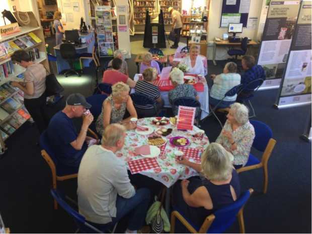 A group meeting in Cromer library. Photo credit: Norfolk libraries