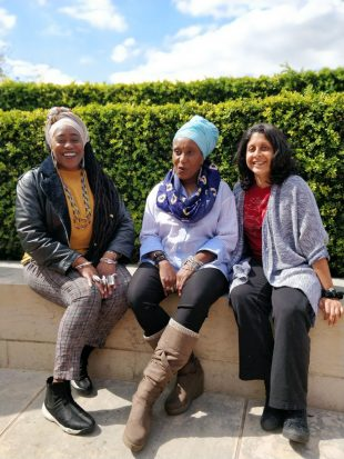 Poets visiting the British Library. From left to right: Khadijah Ibrahim, Malika Booker and Vahni Capildeo. Photo credit: Poet in the City