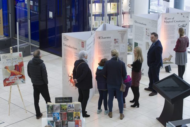 Visitors in Newcastle central library. Photo credit: Steve Brock Photography