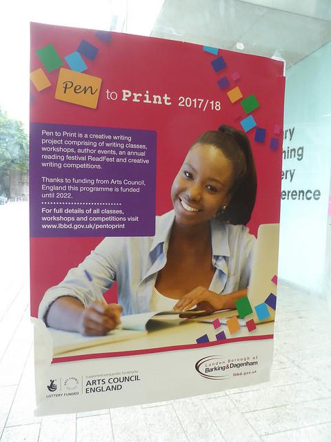 Poster advertising Pen to Print 2017/18
