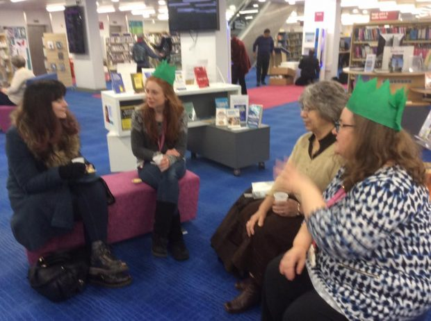 Photo of a pop-up book group in Cambridge central library