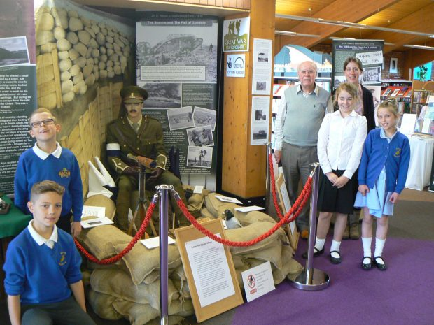Photo of members of Perton Primary Academy visiting the exhibition