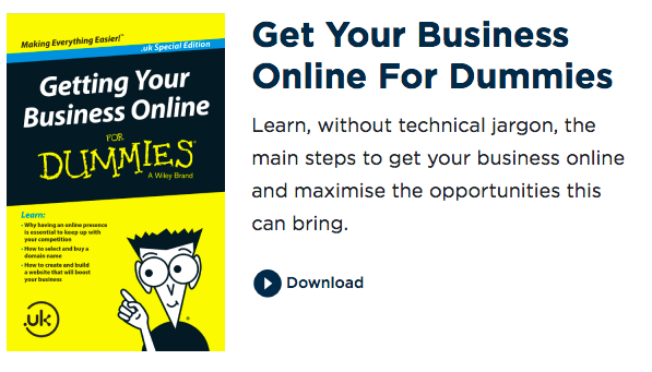 screenshot: cover of Get Your Business Online for dummies guide