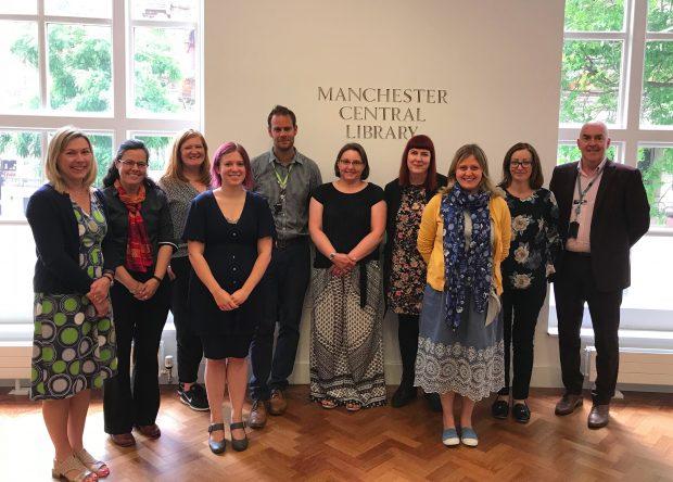 Lab Partners and their mentors, meeting in Manchester Central library. Photo credit: Carnegie Trust UK