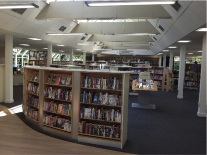 Photo of inside Newark library.