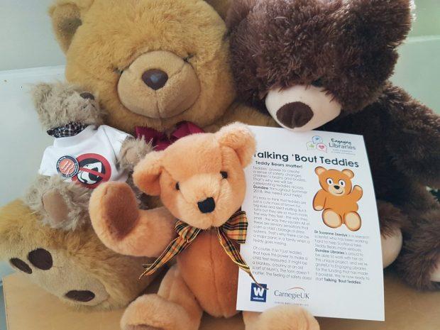Photo of a pile of teddy bears