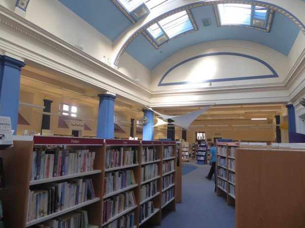 Inside Warrington central library