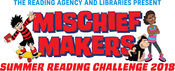 Mischief Makers banner featuring Dennis and other Beano characters