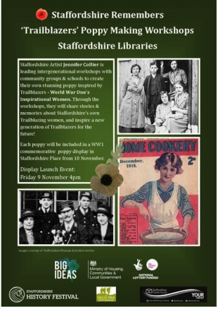 Poster advertising the poppies project